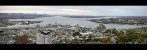 Quebec City - panoramic view by manuamador