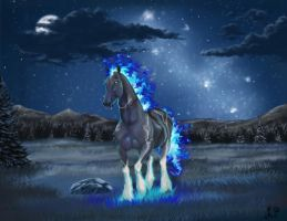 Out of the Blue Night by SolinaBright