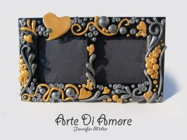 Golden Hearts Frame by ArteDiAmore