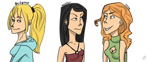 TDI: Bridgette, Heather, Izzy by NatashaFenik