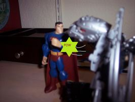 Superman vs Thunder by trexking45