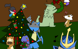Pokemon Christmas Decorating by BuizelKnight