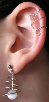 Ear Cuffs and Spiral Earrings by lavadragon