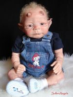 OOAK Reborn demon Baby by morganaire