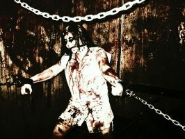 Chained and Bloody... by foxyrosedanie