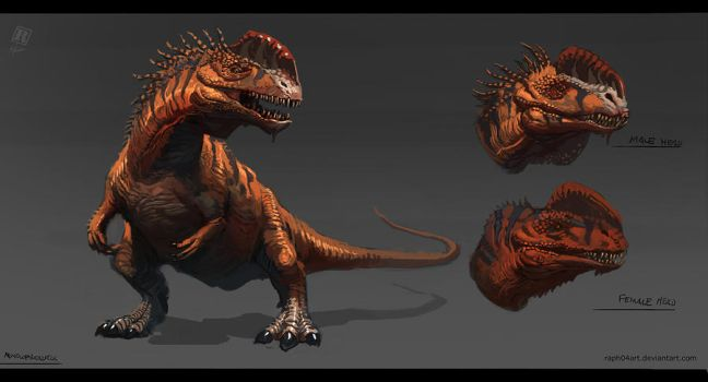 Animal study - Monolophosaurus by Raph04art