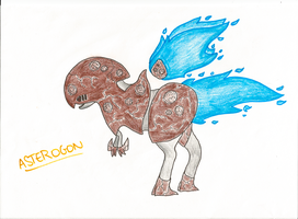 Asterogon : The Asteroid fakemon by narupit