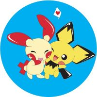 pichu and plusle by akatsuki-mistress