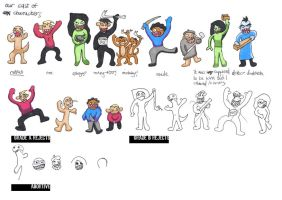 our cast of characters by easternBloc