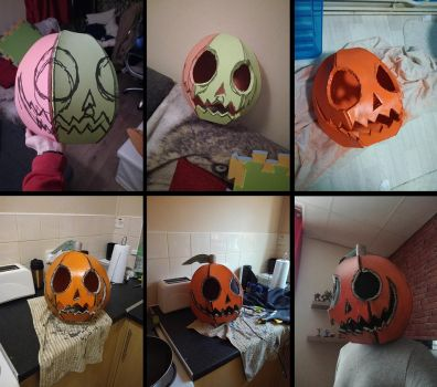 Making a pumpkin mask by NonsenseGhost