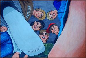 The stomping of Billy, as drawn in 2008 by Nemper