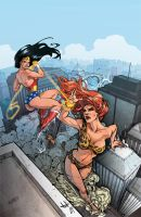 Wonder Woman Vs Giganta by Yleniadn86