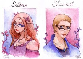 :COM: Selene and Shamael by Doria-Plume