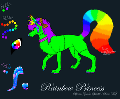 Gift :: Rainbow Princess by lucidcoyote