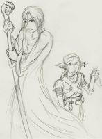Wizard and Kender by Vincents-Phoenix