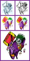 The Joker - Process by GreenArrow