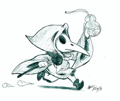 Plague Knight Sketch by Cogmoses