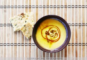 Pumpkin soup + pumpkin crackers by lidaC
