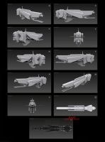 Contention: UNMC Masada-Class Frigate 3D WIP by Malcontent1692