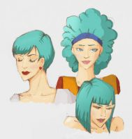 Bulma's hairstyles by Italuver