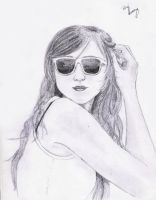 Girl with sunglasses by rhayqueiroz