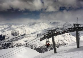 Ski Lift by BWozniakPhotography