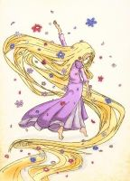 Tangled - colored by Sucre-de-Lune