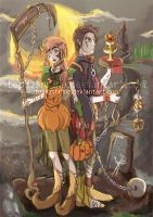 APH: Hungary and Austria Halloween by TopazShrine