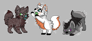 3 Pixle Canine Adopts OPEN by WalkingNaturalAdopts