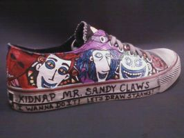 LOCK SHOCK AND BARREL HANDPAINTED SHOES by rachelliles352