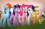 Nerd Girl and the Stereotype Squad by drawponies