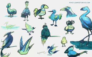 Birdsketches by HenrikeD