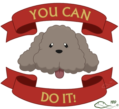 Motivational Makkachin by The-Emerald-Otter