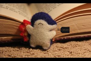 needle felted Cyndaquil by FluffyParcel