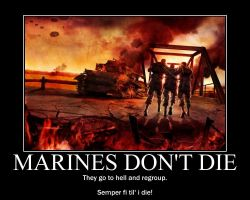 Marines don't die... by Tehmaster31