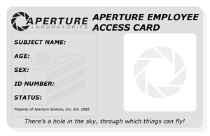 Aperture Employee Card -Blank- by Maki-Tak