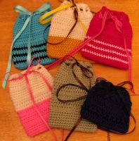 Crochet tarot card bags for one of my friends... by doilydeas