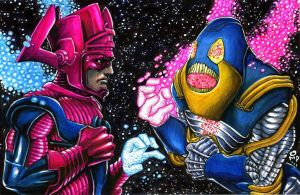 Galactus Vs. Anti-Monitor by olybear