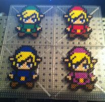 Four Swords Adventures Link Perlers by Ace8bit