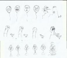 Cartoon Comic Sketches by TheR-tist