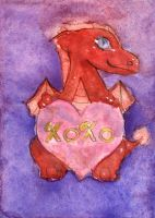 XoXo Vday Dragon ACEO by Starrydance
