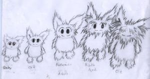 The age cycle of gremlins by Griffon2745
