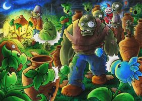 Plants vs. Zombies Vasebreaker by Merinid-DE