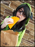 (Invader Zim) TACO TIME!!!!! (GIR Cosplay) by KrazyKari