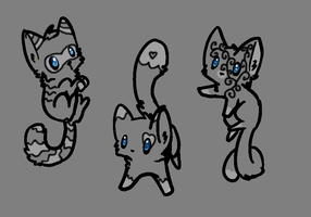 FREE ghost cat adopts OPEN!* by FrankinPoodle