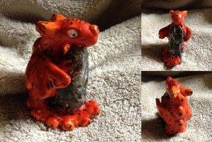 Red Dragon on Stone by SonsationalCreations