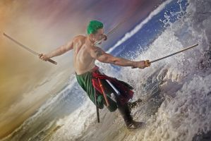 Zoro One Piece Three Sword Style by JMJ83