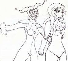 Ivy and Harley be strollen by Maivory