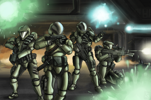 Fireteam Kilo (Commission) by The-Chronothaur