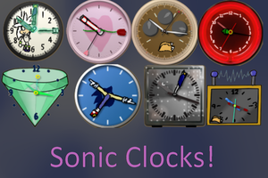 Sonic Clock Gadget skins by Its-Sweater-time